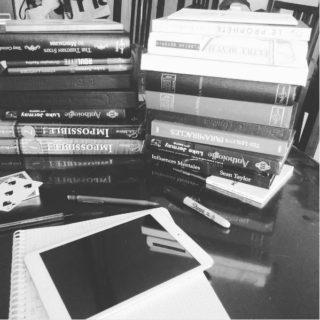 aperçu de ma bibliothèque en mode écriture de spectacle