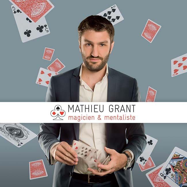 Photo de mathieu grant le Magicien Professionnel mentaliste a Lyon Genève Paris