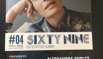 magasine SIXT NINE numéro quatre ou vous trouverez une interview de mathieu grant magicien lyon