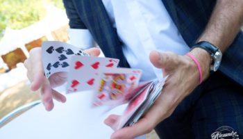 manipulation de carte magicien lyon